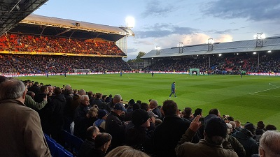 The view for this away fan at Selhurst Park tonight