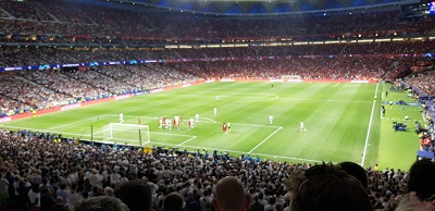 Christian Eriksen came as close as any Spurs player to scoring in the Champions League Final with this free kick