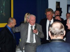 Mr Tottenham Bill Nicholson speaks at his induction into the Spurs Hall of Fame on March 11th 2004